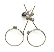 Load image into Gallery viewer, Double Eye loupe Clip on Magnifier for Steampunk Goggles Glasses
