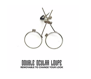 Double Eye loupe Clip on Magnifier for Steampunk Goggles Glasses