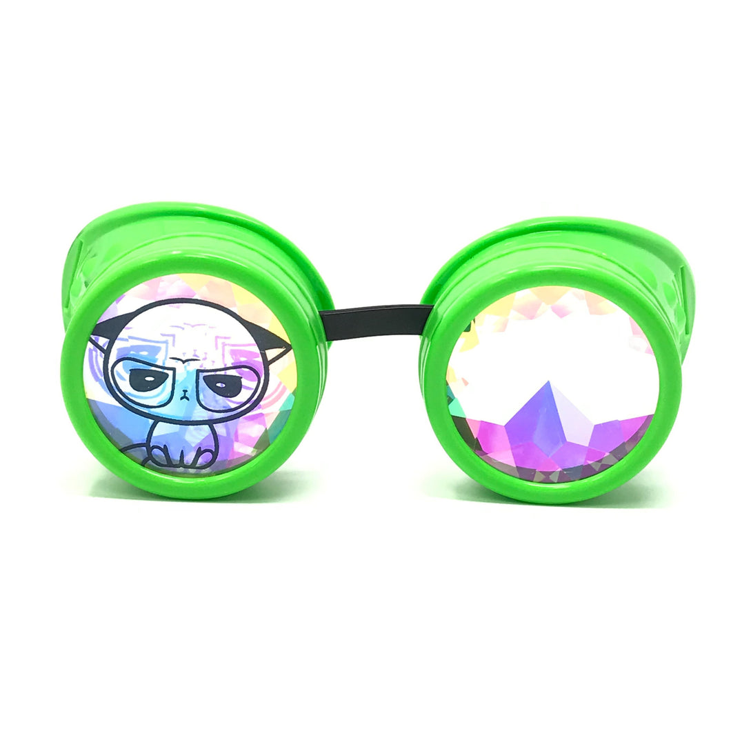 Copy of Storm area51 with crazy meme kaleidoscope goggles alien green