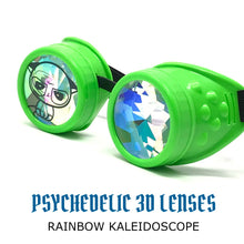 Load image into Gallery viewer, Copy of Storm area51 with crazy meme kaleidoscope goggles alien green