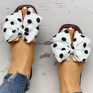 Dotted Bow Sandals