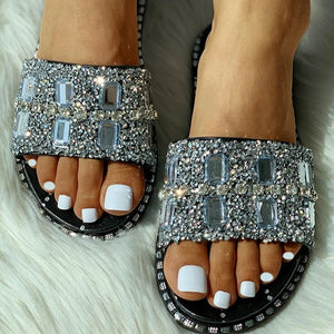 Crystal Fashion Slippers