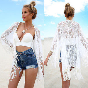 Summer Lace Tassel Cover Up