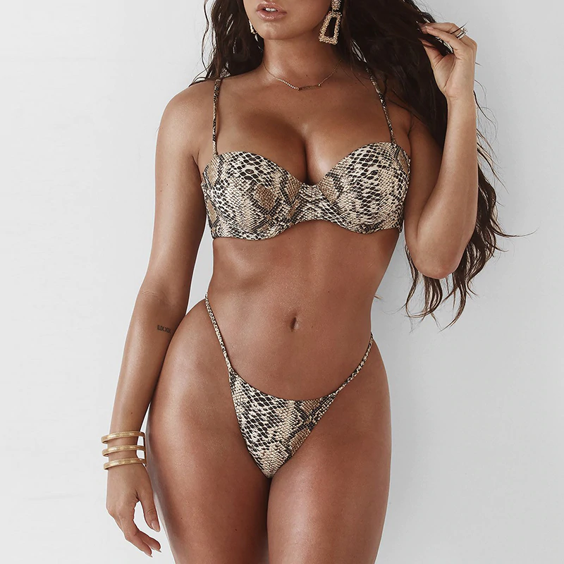 Push Up Snake Bikini