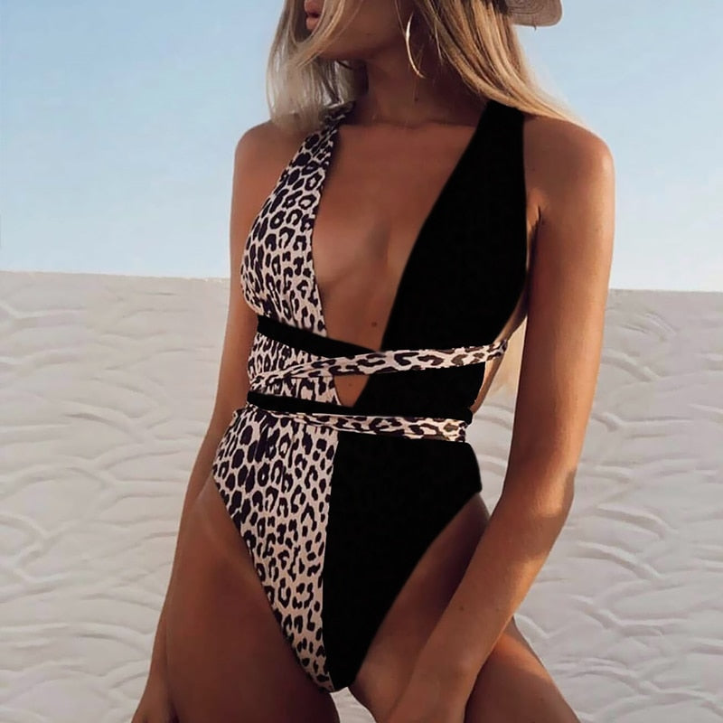 Mona's Leopard One Piece