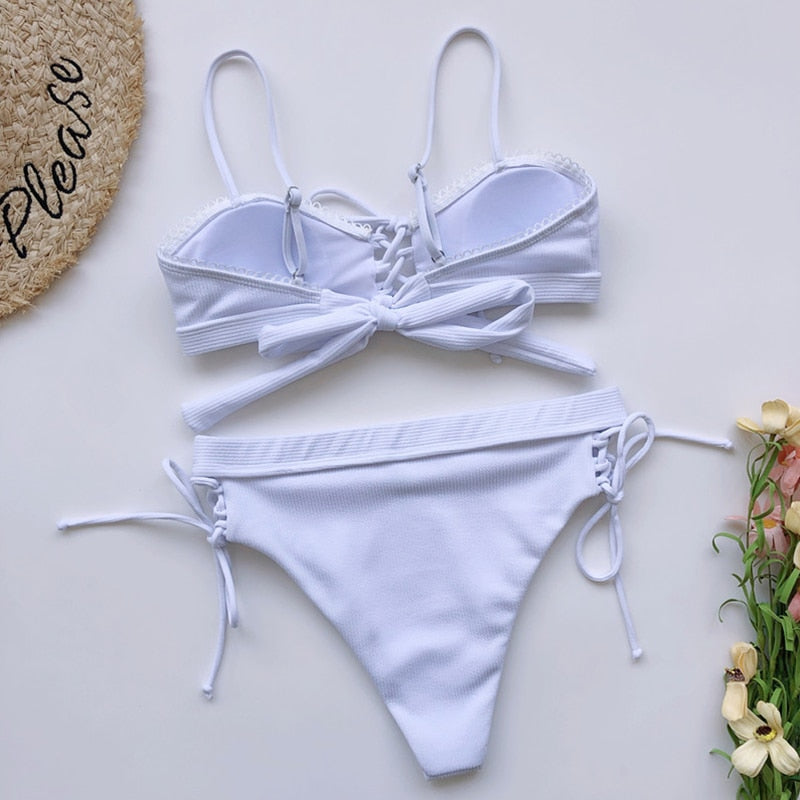 Selene's Lace Up Bikini