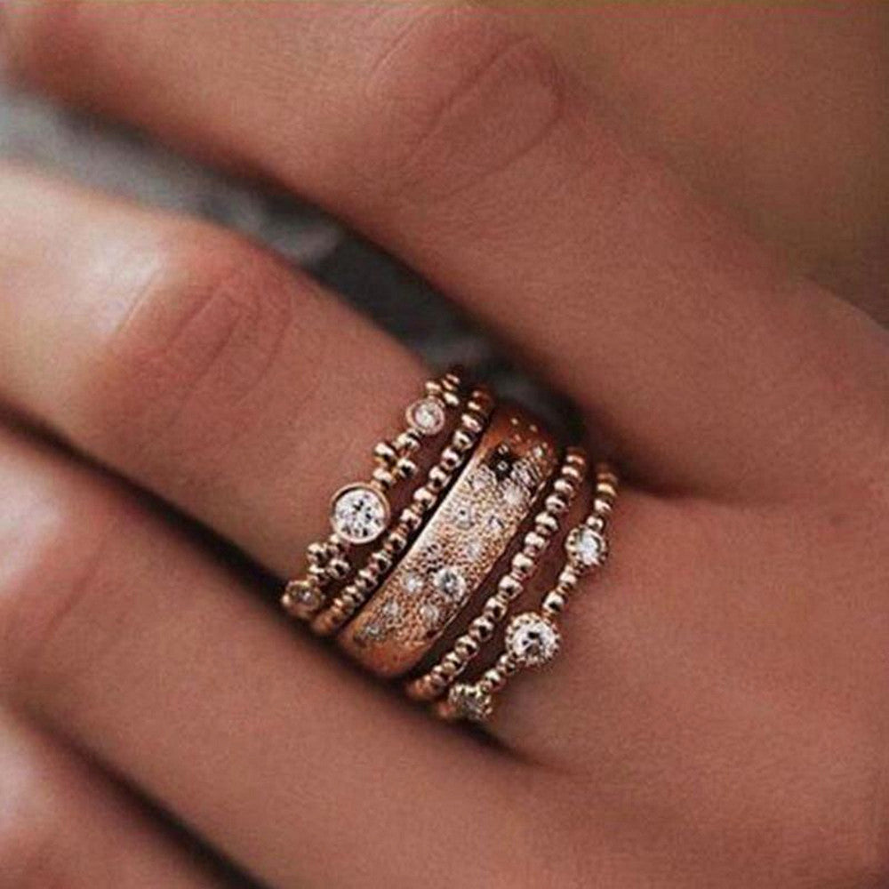 Crystal Ocean Ring Set