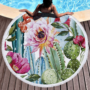 Cactus Passion Beach Towel