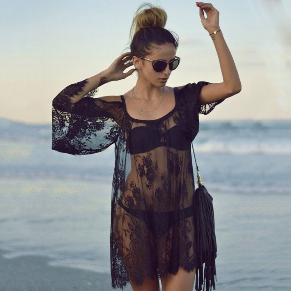Blace Lace Cover Up