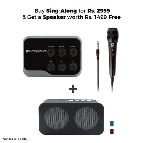 Buy UM1002 Sing-Along for 2499 & Get a Speaker worth Rs.1499 Free