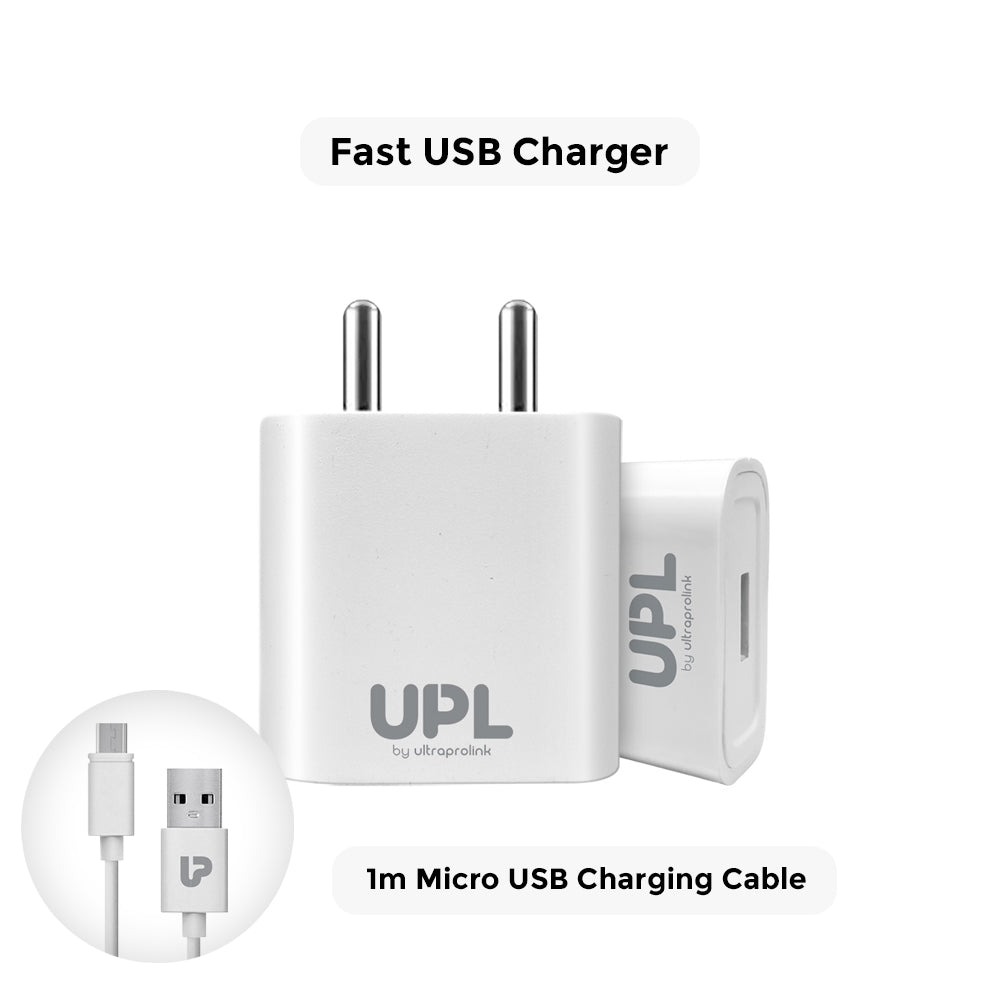 Charge 1- 2.1A  Fast Charging Travel Adapter with 1m Micro USB Cable