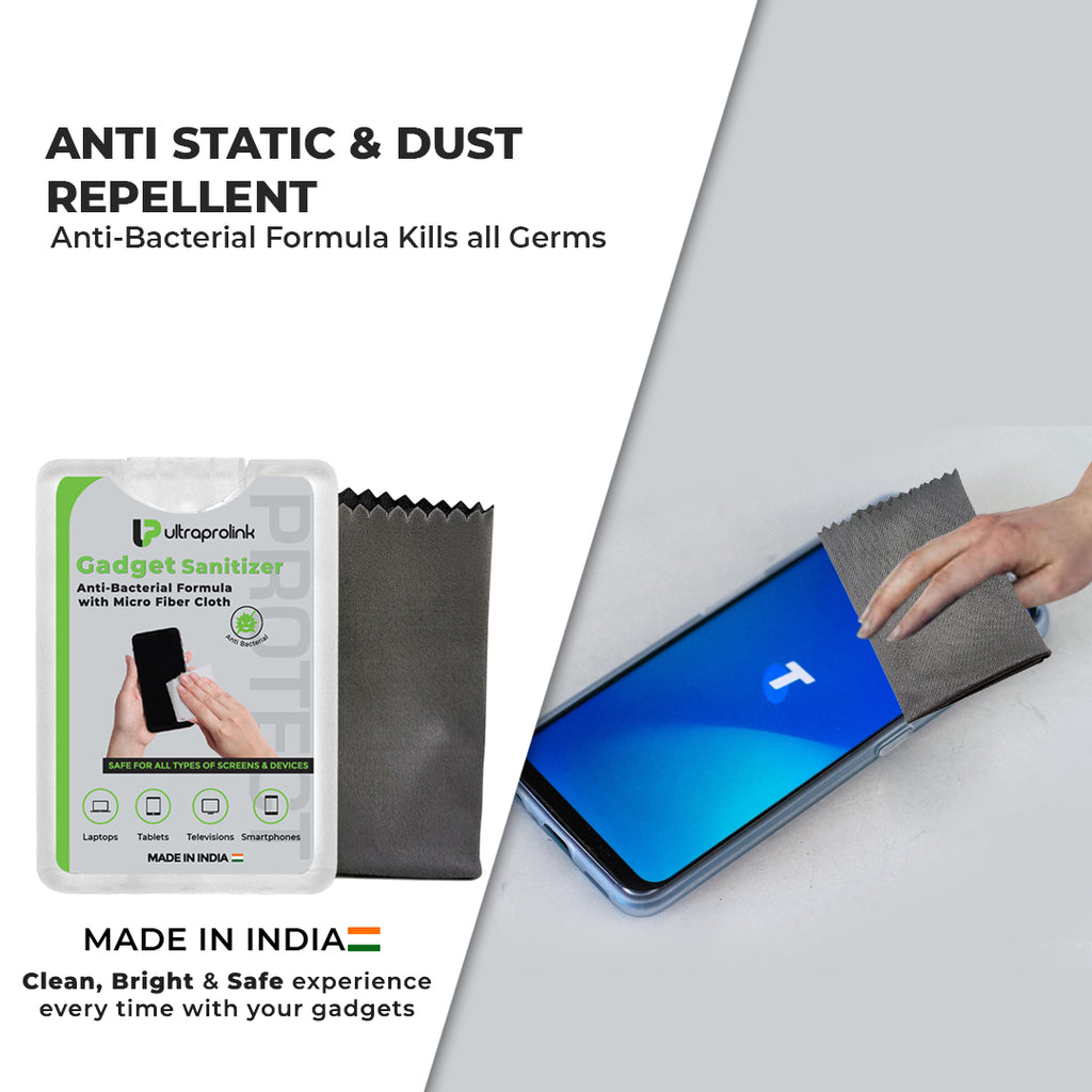 Anti-Bacterial Gadget Sanitizer with Micro Fiber Cloth (20ml)