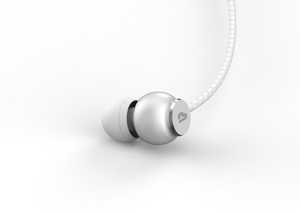 MoBass+ Noise Isolation Earbuds With Mic UM1017 (Silver)