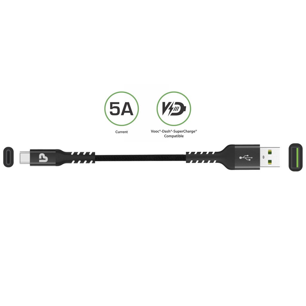 NYLOKEV-C+ Sync & Chare Cable 1.5m UL1022(Black)