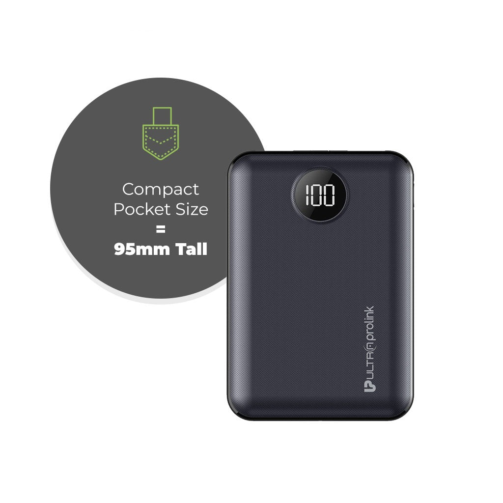 UltraProlink UM0101 Boost Mini 10000mah Power Bank (Black)
