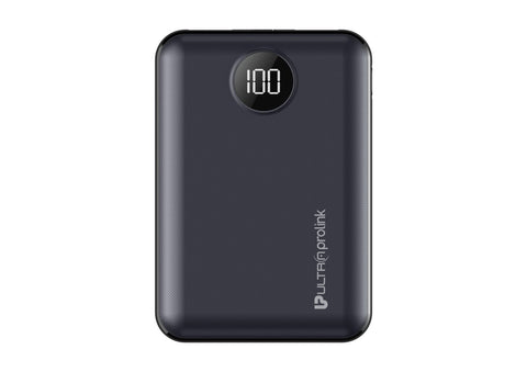 UltraProlink UM0101 Boost Mini  10000mah Li-Polymer Power Bank with 2 inputs & 2 outputs 10.2W Fast Charging(Black)