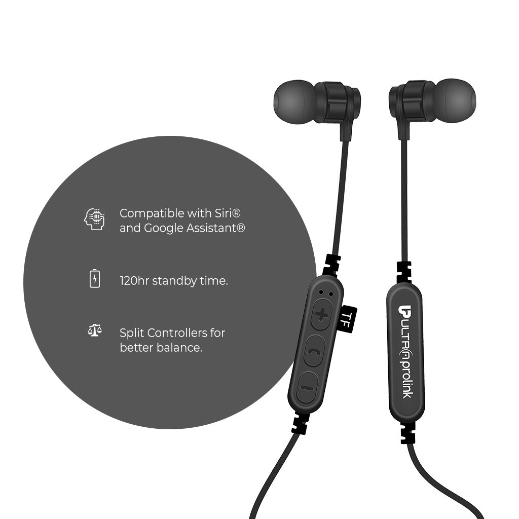 Clef Wireless Earphones with Micro SD card slot UM0083 (Black)