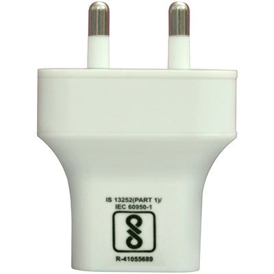 iSwift Dual Usb Travel Charger With Micro Usb Cable 2.1A (BIS) UM0047WCBL