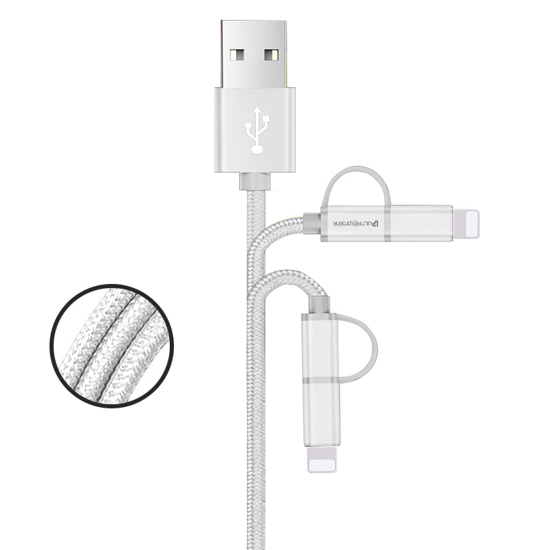 Mini Combo Cable 20cm UL0061-0020 (White)