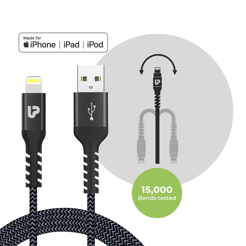 NYLOKEV+ LIGHTNING Cable 1.5m UL1008GRY-0150 (Grey)