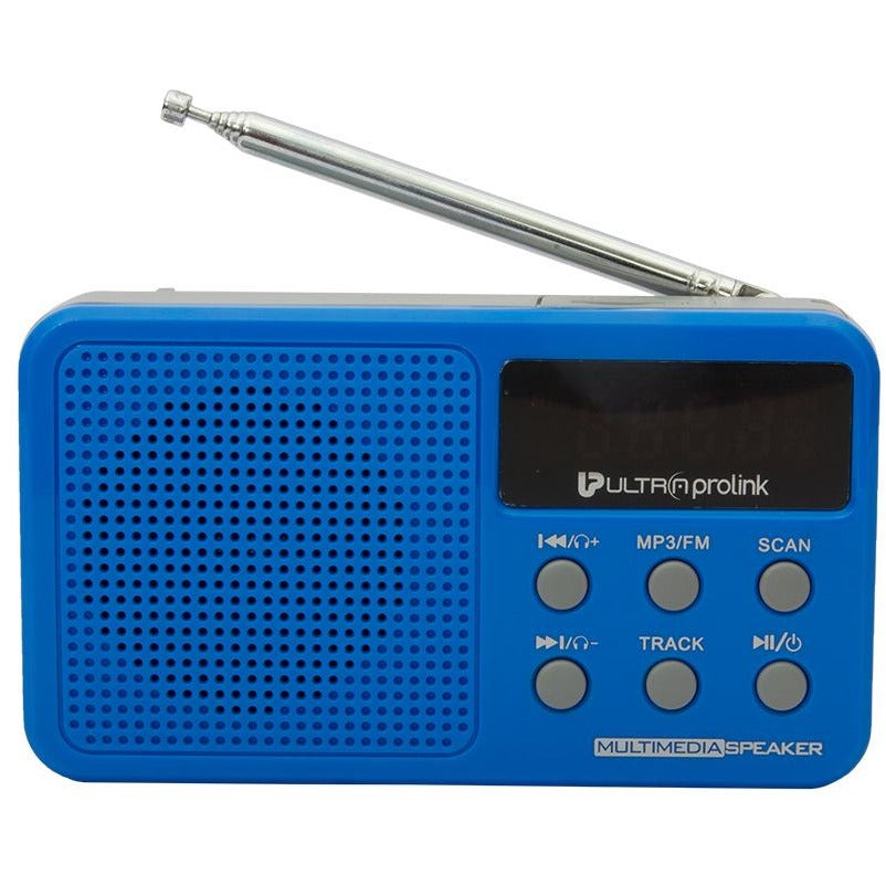 UltraProlink UM0017 Retro Vintage Classic Portable Speaker with FM Radio, Micro SD Card & USB Pen Drive Slots 3W(Blue)