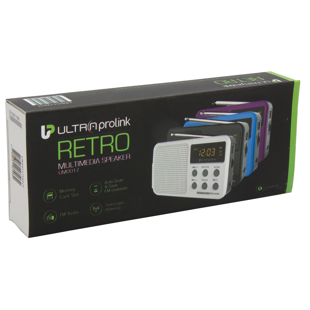 Retro Multimedia Speaker UM0017 (White)