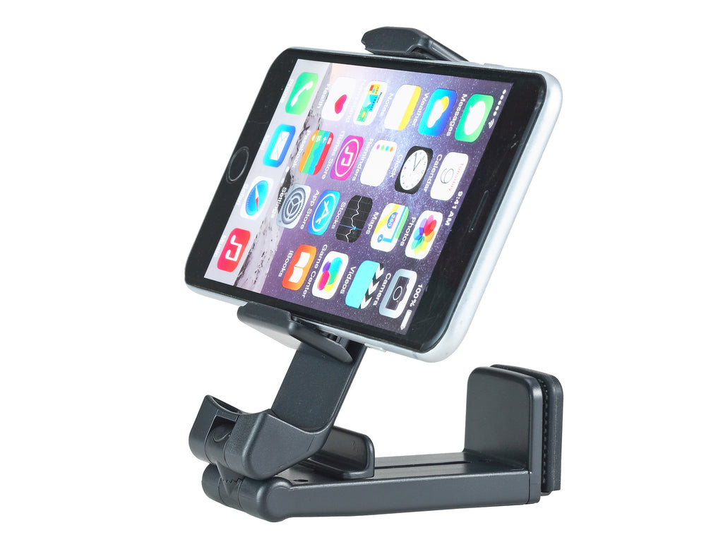 UltraProlink Uni-Mount UM0094 Universal Mobile Stand Holder For Video calls & WFH Essentials Accessories, Airplane Flight Mount- Table Phone Clamp, Bedside  ,Work from home & Desk Holder