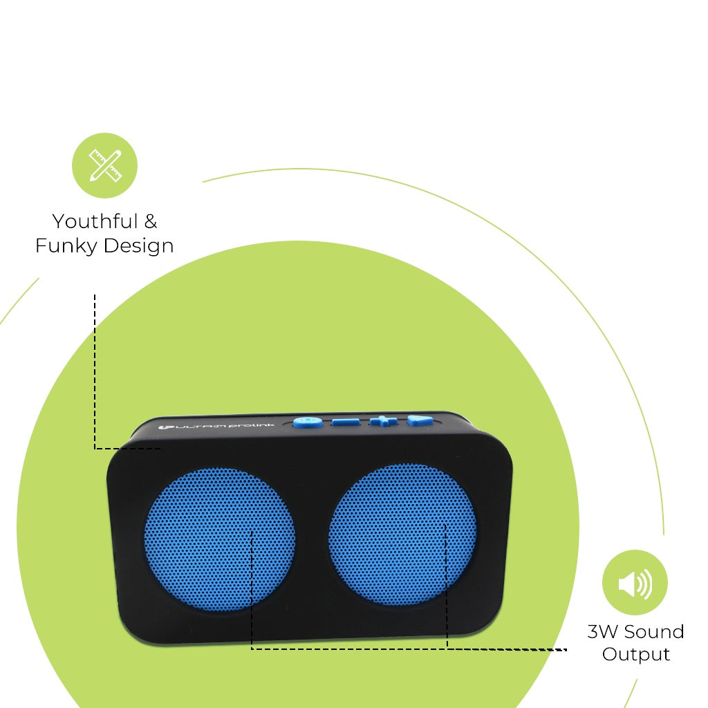Hi- Q Junior Wireless Multimedia Speaker UM0096 (Blue)