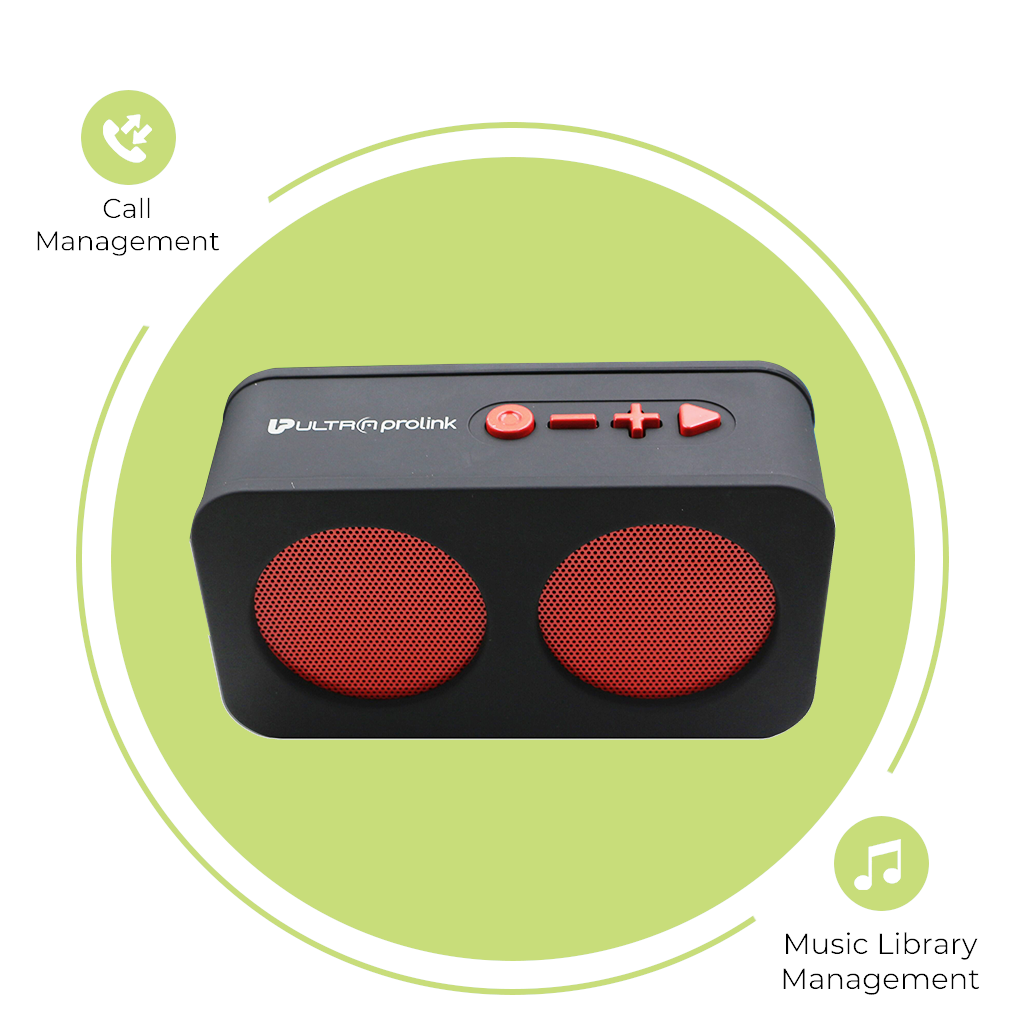 UltraProlink UM0096 Hi- Q Junior-Wireless Multimedia Speaker (Red)