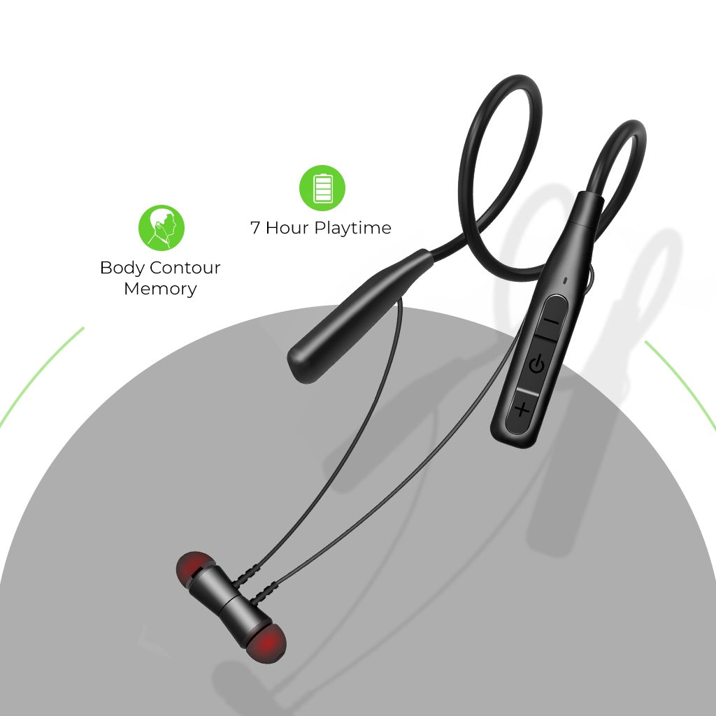 UltraProlink UM0098 Morph 2 Wireless Neckband Earphone With Body Contour Memory
