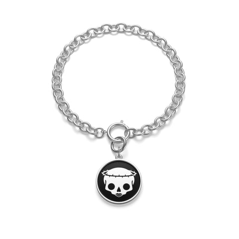 "Strap On Halo ""Original"" Skull Logo Chunky Chain Bracelet"
