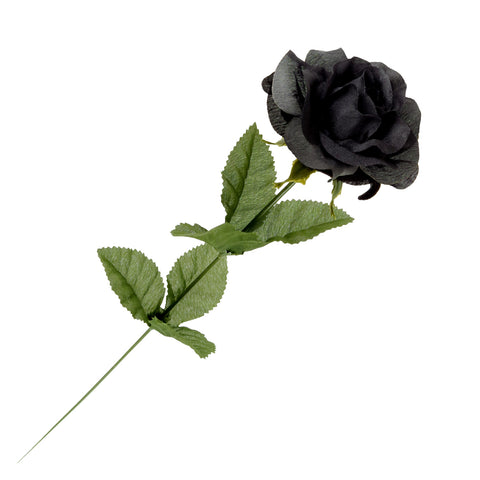 Black Imitation Rose - Gothic Curios