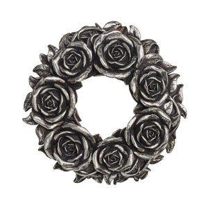 Black Rose Wreath - Gothic Curios
