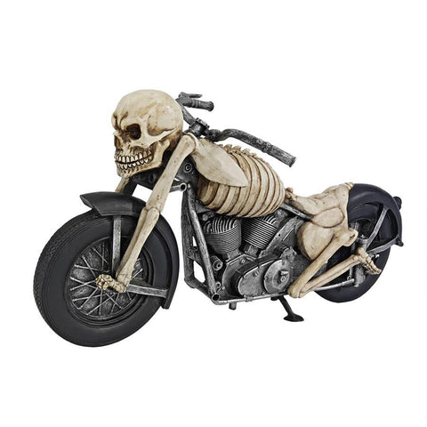 BONE CHILLIN SKELETON MOTORCYCLE - Gothic Curios