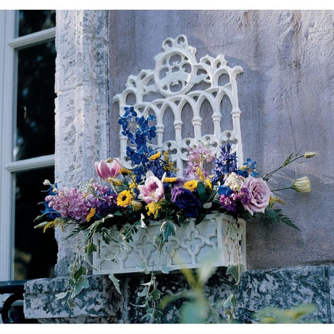 CAST IRON GOTHIC REVIVAL FLOWER BOX NR