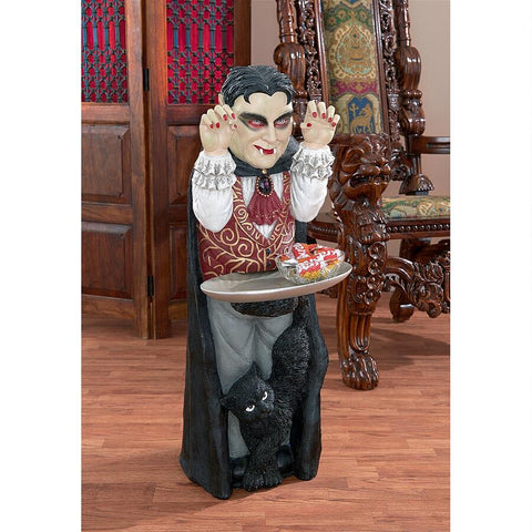 COUNT DRACULA VAMPIRE BUTLER TABLE - Gothic Curios