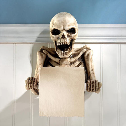 BONE DRY SKELETON TOILET PAPER HOLDER - Gothic Curios