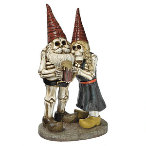 BONES AND BREW SKELETON GNOMES STATUE - Gothic Curios