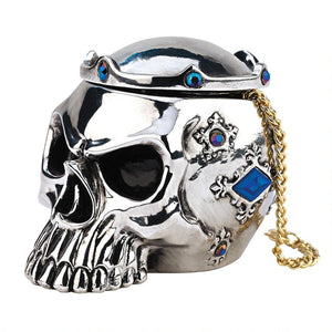 CHROME DOME GOTHIC SKULL BOX - Gothic Curios