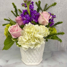 Garden Lattice Vase Arrangement - $44.99