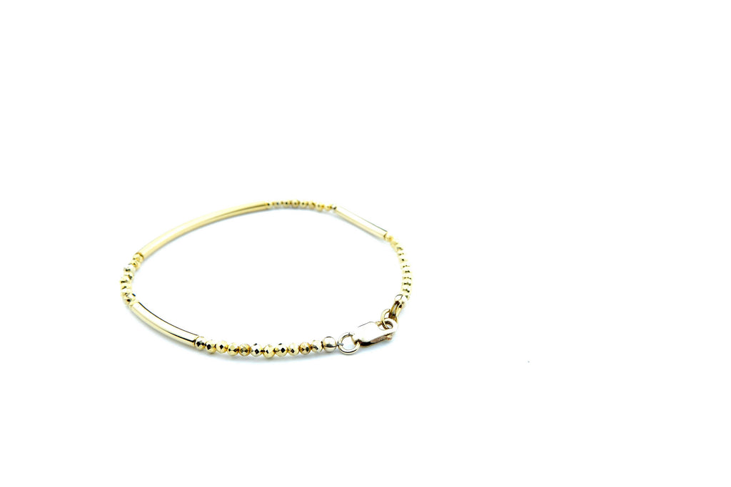 Crystal Healing Jewelry Gold Pyrite Bead Bracelet Back | Popvibe