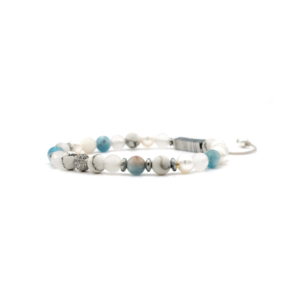 Howlite, Amazonite, Quartz & Pearl Bracelet | Breast Cancer Research Foundation