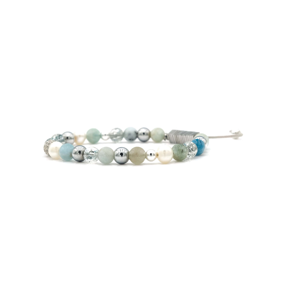 Amazonite, Quartz & Pearl Bracelet | Breast Cancer Research Foundation
