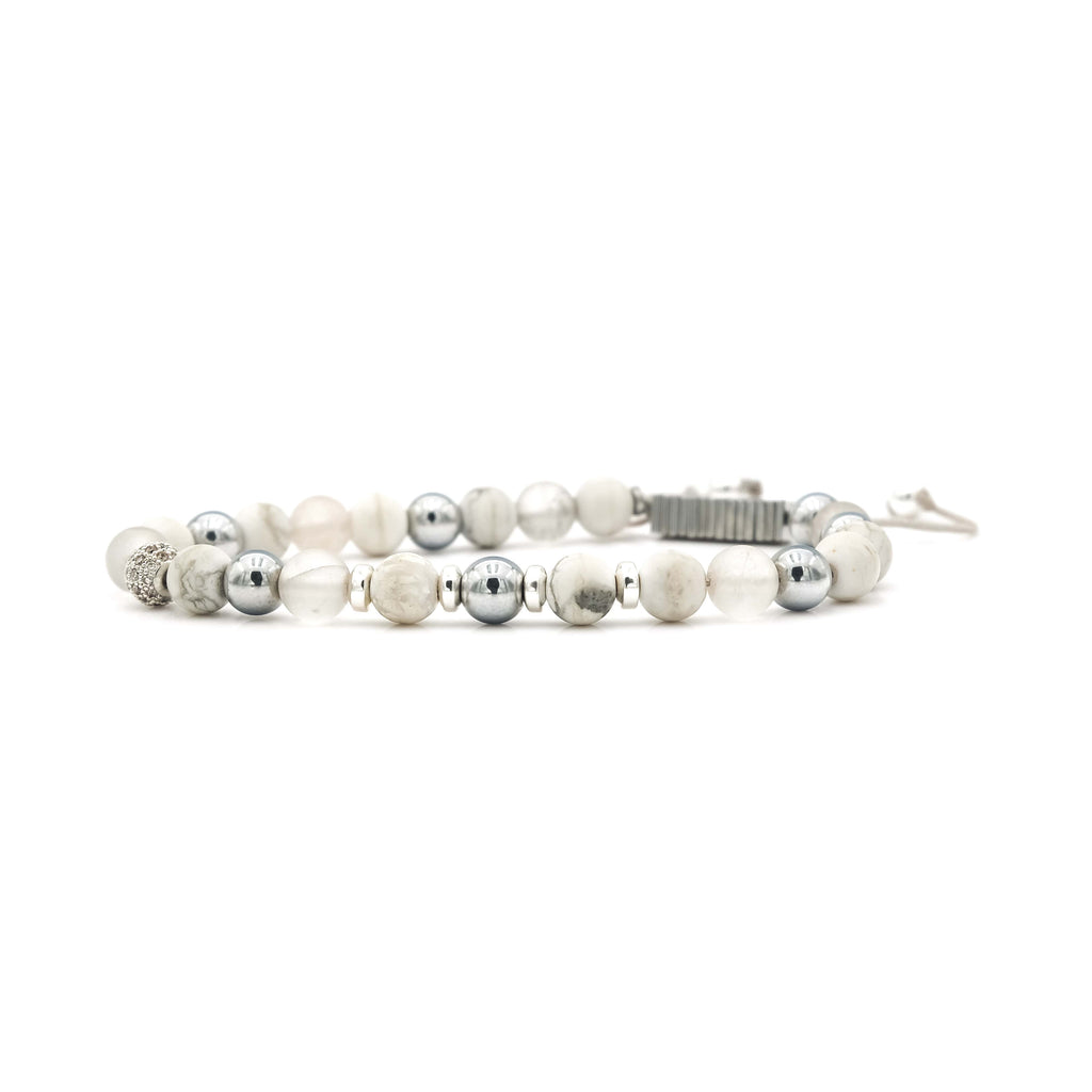 Howlite, Quartz & Hematite Bracelet | Sierra Club Foundation