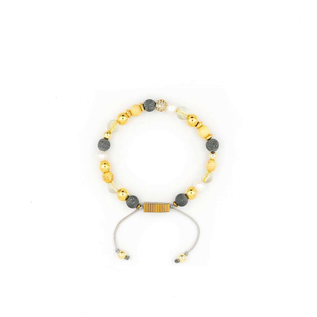 Lava Stone, Howlite, Citrine & Pearl Bracelet | Breast Cancer Research Foundation