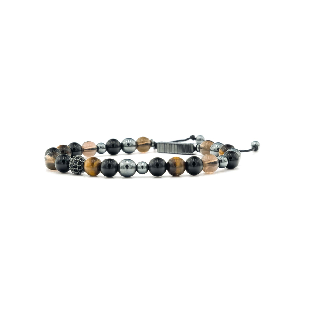 Onyx, Quartz, Tiger Eye & Hematite Bracelet | Ali Forney Center