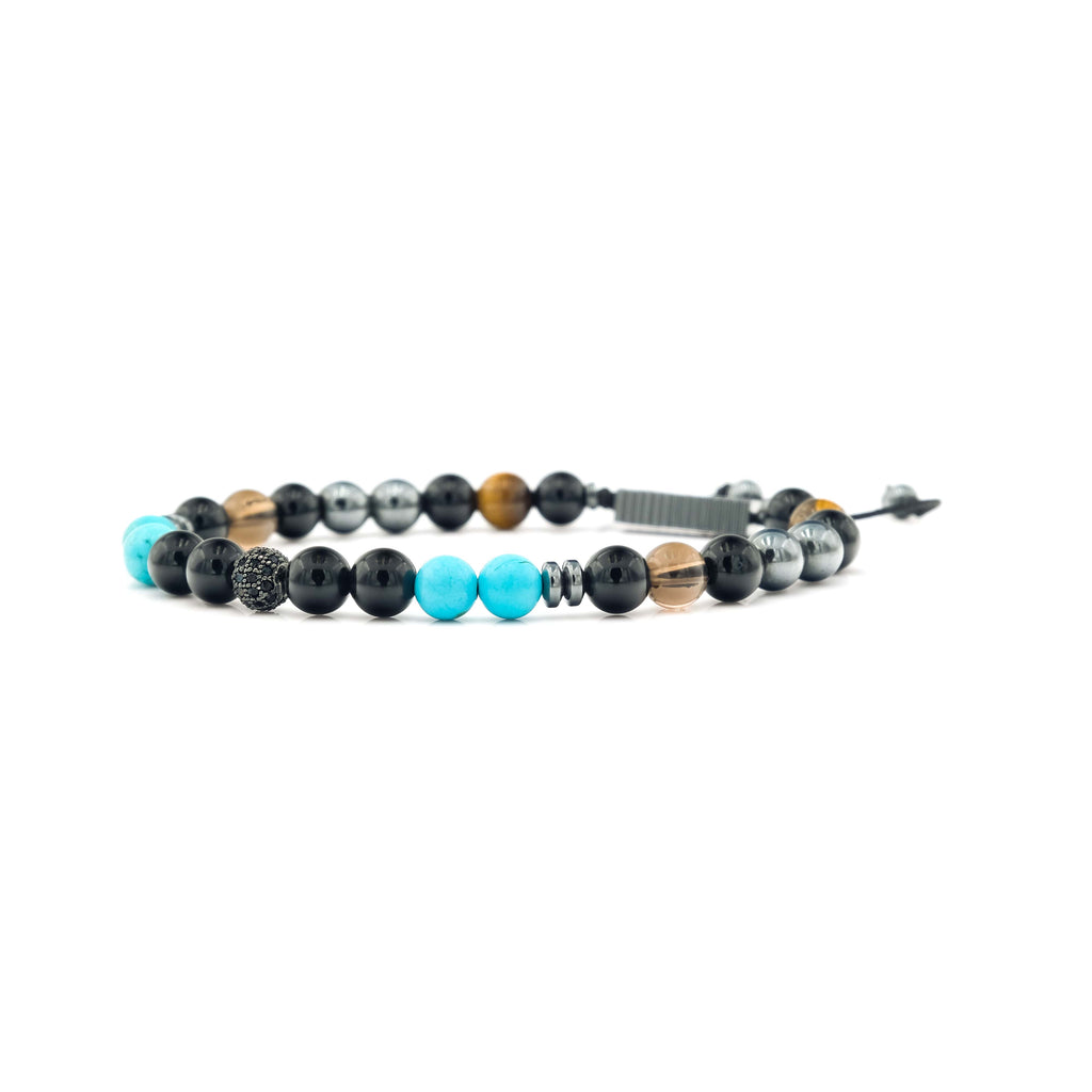 Onyx, Turquoise, Quartz & Tiger Eye Bracelet | To Write Love on Her Arm