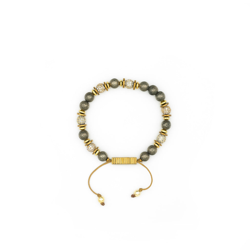 Natural Gold Pyrite Bracelet | Ali Forney Center
