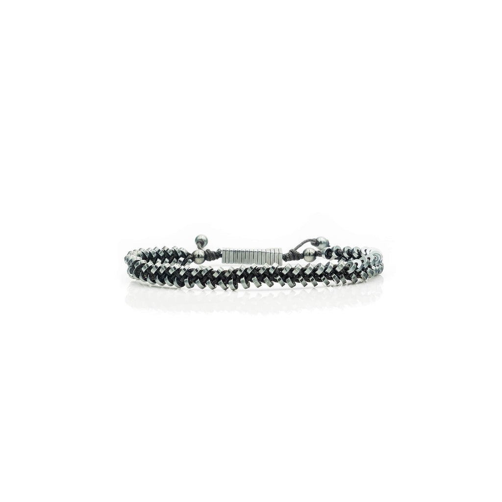 Vintage Black Braided Hematite Bracelet | American Foundation For Suicide Prevention