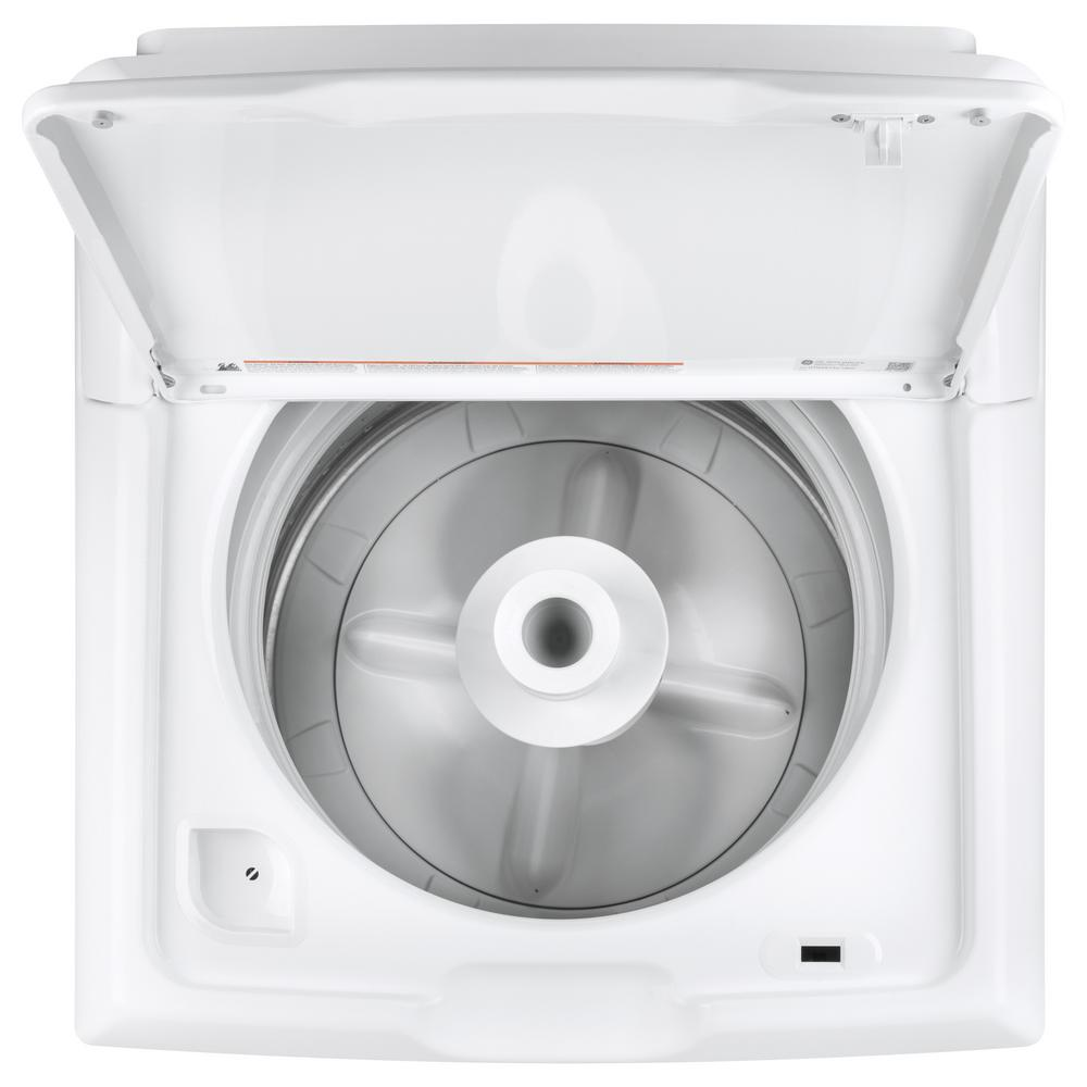 GE 4.2 cu. ft. White Top Load Washing Machine with Stainless Steel Basket Model GTW335ASNWW